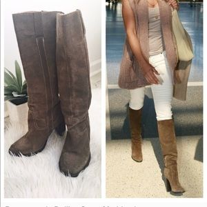 """Steve Madden """"Delilaa"""" Distressed Leather Boots 10"""